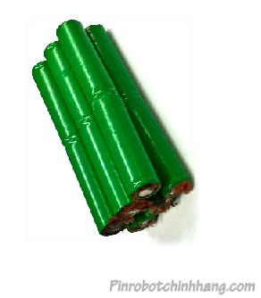 14.4v-1400mAh, Pin robot lau nhà-Pin sạc NiMh 14.4v-1400mAh (Bảo hành 6 tháng)