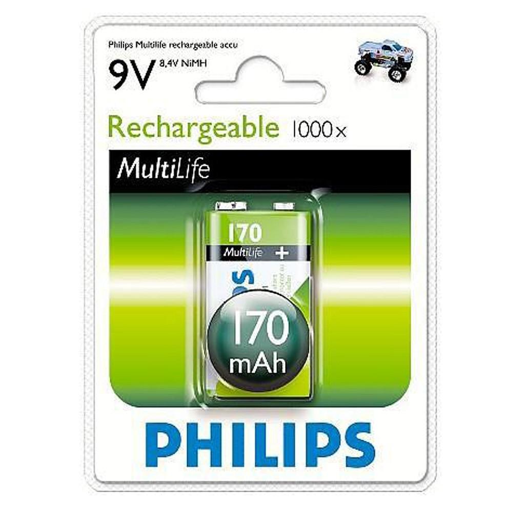 Pin sạc 9V vuông Philips 9VB1A17/97 - 9V170mAh chính hãng Philips