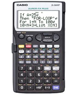 Máy tính Casio FX-5800P Lập trình chính hãng Casio Nhật