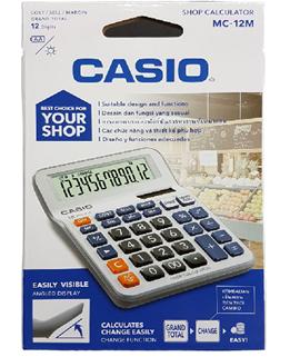 Máy tính tiền điện tử bỏ túi để văn phòng Casio MC-12M chính hãng Casio Japan