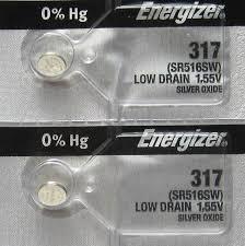Pin đồng hồ đeo tay 1,55v Silver Oxide Energizer 317,SR516SW chính hãng Made in USA