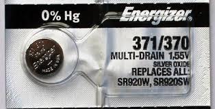 Pin đồng hồ đeo tay 1,55v Silver Oxide Energizer 371, SR920SW chính hãng Made in USA