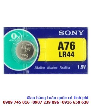 Pin cúc áo Sony A76-LR44 Alkaline 1,5V chính hãng Made in Japan