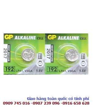 Pin cúc áo 1.5v Alkaline GP LR41/192 High Voltage chính hãng
