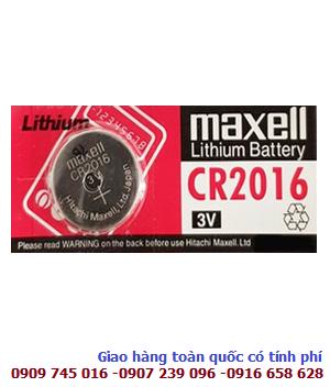 Maxell CR2016; Pin 3v lithium Maxell CR2016 chính hãng Made in Japan