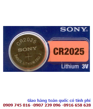 Sony CR2025; Pin Sony CR2025 lithium 3V _Made in Indonesia _1viên