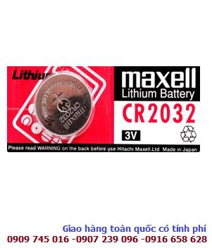 Pin 3v lithium Maxell CR2032 chính hãng Made in Japan