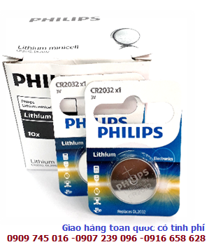 Philips CR2032/ DL2032; Pin lithium 3V Philips CR2032/ DL2032