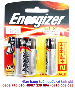 Pin AA Energizer E91-BP3 (B2C1) Max Power Seal Technology Alkaline 1.5V _Made in Singapore