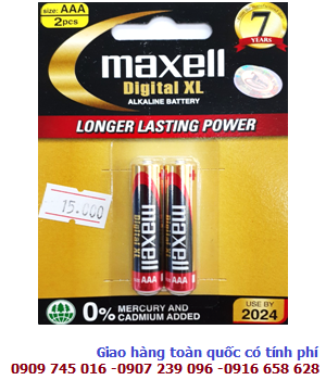 Pin AAA Maxell LR03 Digital XL Alkaline 1.5V chính hãng Made in Indonesia