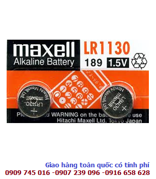 Pin Maxell LR1130-189-AG10 Alkaline 1,5V chính hãng