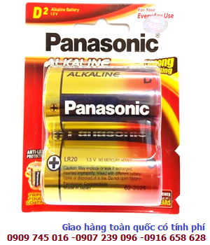 Pin đại D 1,5v Panasonic LR20T/2B Longer Lasting Alkaline chính hãng Made in Japan