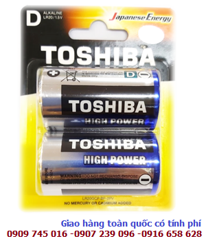 Pin đại D 1.5v Alkaline Toshiba High Power LR20GCP-BP2 chính hãng Made in P.R.C