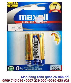 Pin AA Maxell LR6(GD)2B Alkaline 1.5V chính hãng Maxell Made in INdonesia