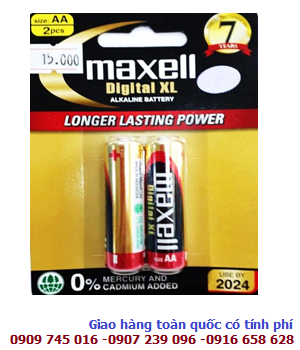 Pin Alkaline AA 1.5v Maxell LR6(W)XL2B _Made in Indonesia